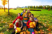 Hapy kids in the park — Stock Photo