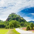 Road to Hochosterwitz castle — 图库照片