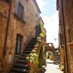 Narrow streets of Bagnoregio — Stock Photo