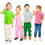 Kids brushing teeth — Stock Photo #42493829