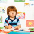 Little boy with pencil — Stock Photo