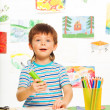 Little boy in the art class — Stock Photo