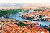 Vltava river and bridges in Prague — Stock Photo