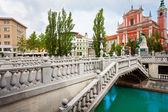Bridge in Ljubljana — Stock Photo