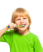 Boy with toothbrush — Foto de Stock