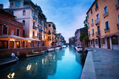 Evening canal in Venice — Stock Photo