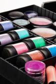 Jars in makeup case — Stock Photo