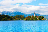 Famous island bled — Stock Photo
