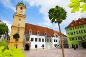 Main square in bratislava — Stock Photo