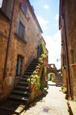 Narrow streets of Bagnoregio — Stock Photo