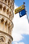 Torre inclinada de pisa, — Foto Stock