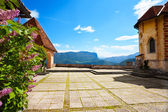 Bled castle with panoramic view — Stock Photo