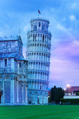 Pisa tower in the evening — Stock Photo