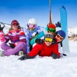 Smiling snowboarders having fun — Stock Photo #44547683