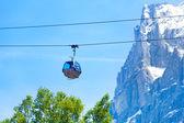Füniküler arka planda alps — Stok fotoğraf