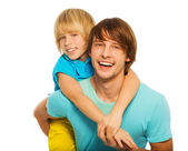 Father play with his son — Stock Photo