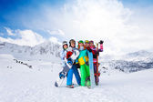Mates on the mountains background — Stock Photo