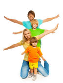Family in pyramid shape — Stock Photo
