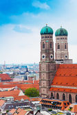 Red roofs in Munich — Stock Photo