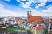 Red roofs in Munich near Marienplatz — Stock Photo