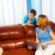 Mother and son with laptop — Stock Photo #47609819