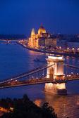 Chain Bridge and parliament — Stock Photo