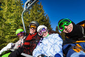 Friends in ski masks — Stok fotoğraf