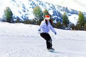 Girl in ski mask — Stok fotoğraf