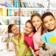 Four  kids   with books — Stockfoto #47611789
