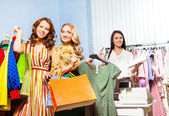 Women, shop assistant — Stock Photo