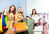 Women, shop assistant — Stock Photo