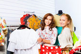 Women   in showroom — Stock Photo