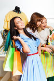 Women shopping together — Stock Photo