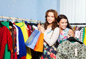 Two  females   in shop — Stock Photo