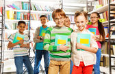 Children in library — Stock Photo