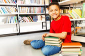 Schoolchild with   books — Stock Photo