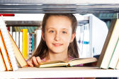 Girl with open book — Stock Photo