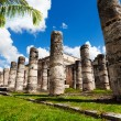 Columns in the Temple of a Thousand Warriors — Stock Photo