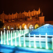 Fountain of Cloth Hall on Rynek Glowny in Krakow — Stock Photo