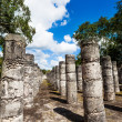 Column rows, Temple of a Thousand Warriors — Stock Photo