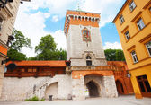 St. Florian's Street  (Florianska Street) gates — Stock Photo