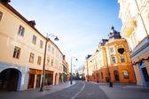 Strada nicolae balcescu in sole, città di sibiu — Foto Stock