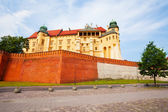 Walls of Wawel Royal Castle in Krakow, Poland — Stock Photo