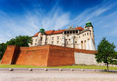 Wawel Royal Castle view in summer — Stock Photo