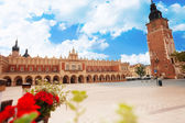 Town Hall Tower on Rynek Glowny in Krakow — Stock Photo