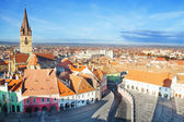 Piata Mare (Large square) in Sibiu, Romania — Stock Photo