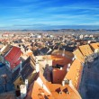 Rows of red roofs in beautiful Sibiu, Romania — Stock Photo