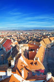 Rows of red roofs in beautiful Sibiu, Romania — Stock fotografie