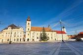 Piata Mare (Large square) view with buildings — Stock Photo