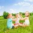 Kids playing on a grass — Stock Photo #49939071